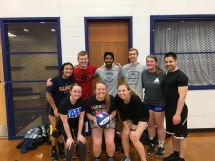 Undefeated Intramural Volleyball Team (Spring 2018)
