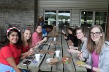 Leisure fellowship: crafting at pledge retreat