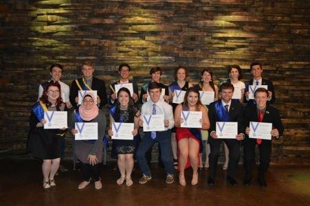 Certificate of Appreciation in Leadership Recipients at Spring 2018 Formal